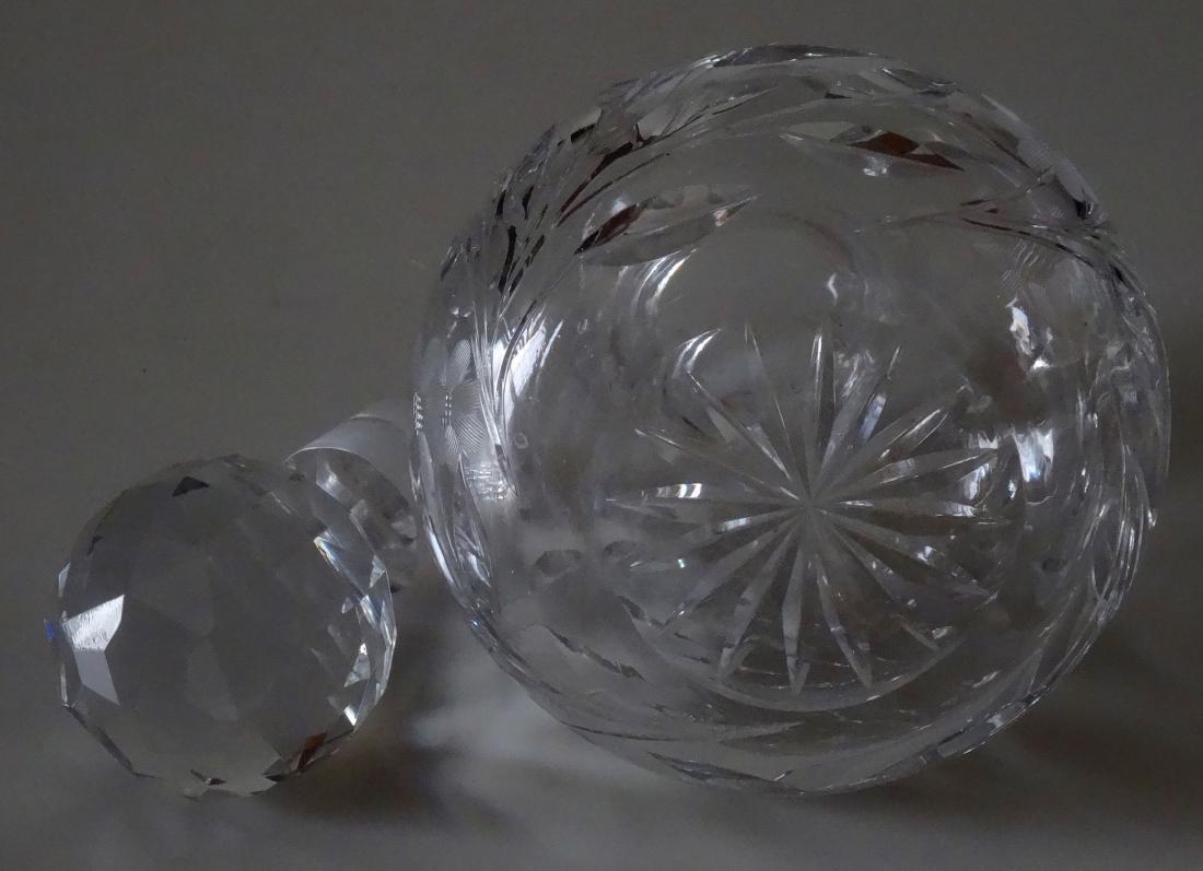 Large Cut Lead Crystal Perfume Bottle - 6