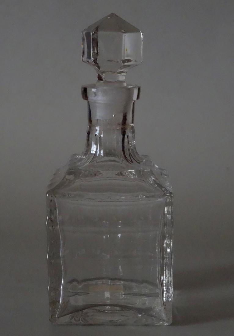 Vintage Optical Glass Barber Perfume Bottle