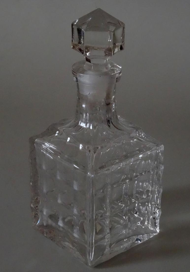 Vintage Optical Glass Barber Perfume Bottle - 2