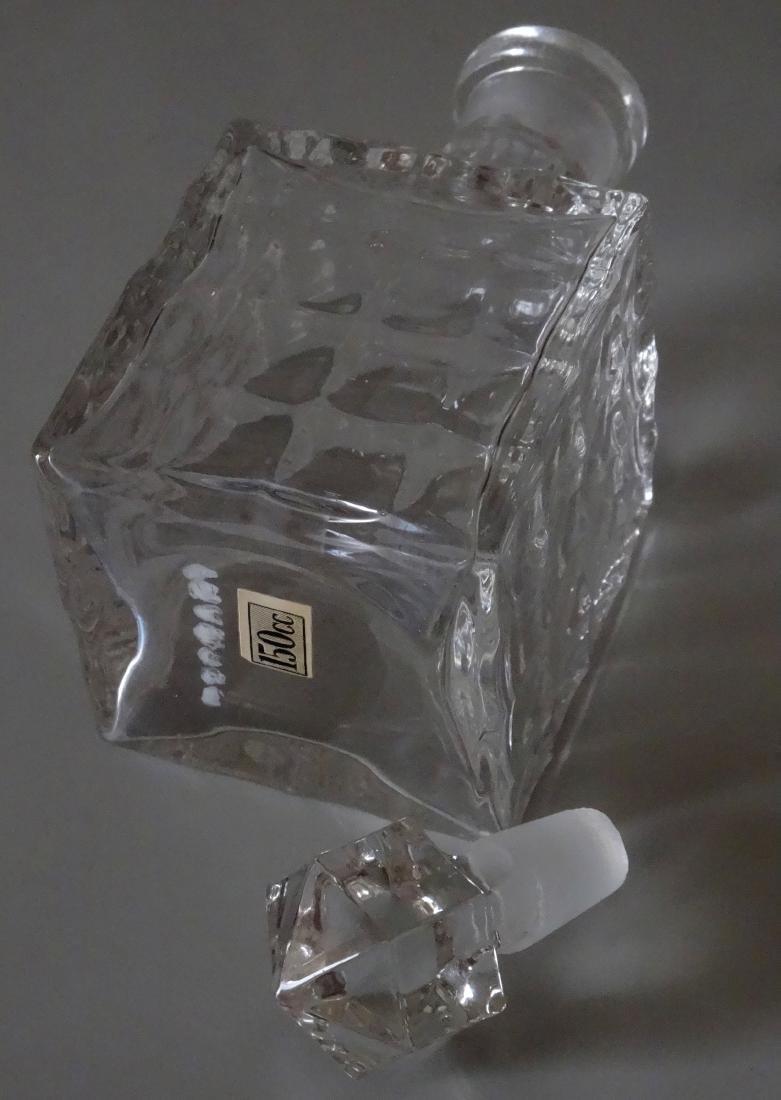 Vintage Optical Glass Barber Perfume Bottle - 6
