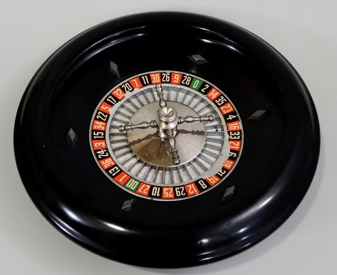 Vintage Bakelite Roulette Heavy Alloy Wheel