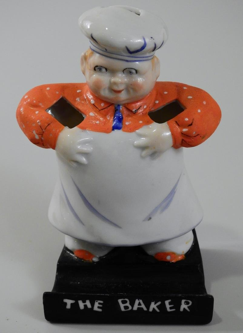 The Baker Figural Porcelain Spooner Cook Chef Kitchen