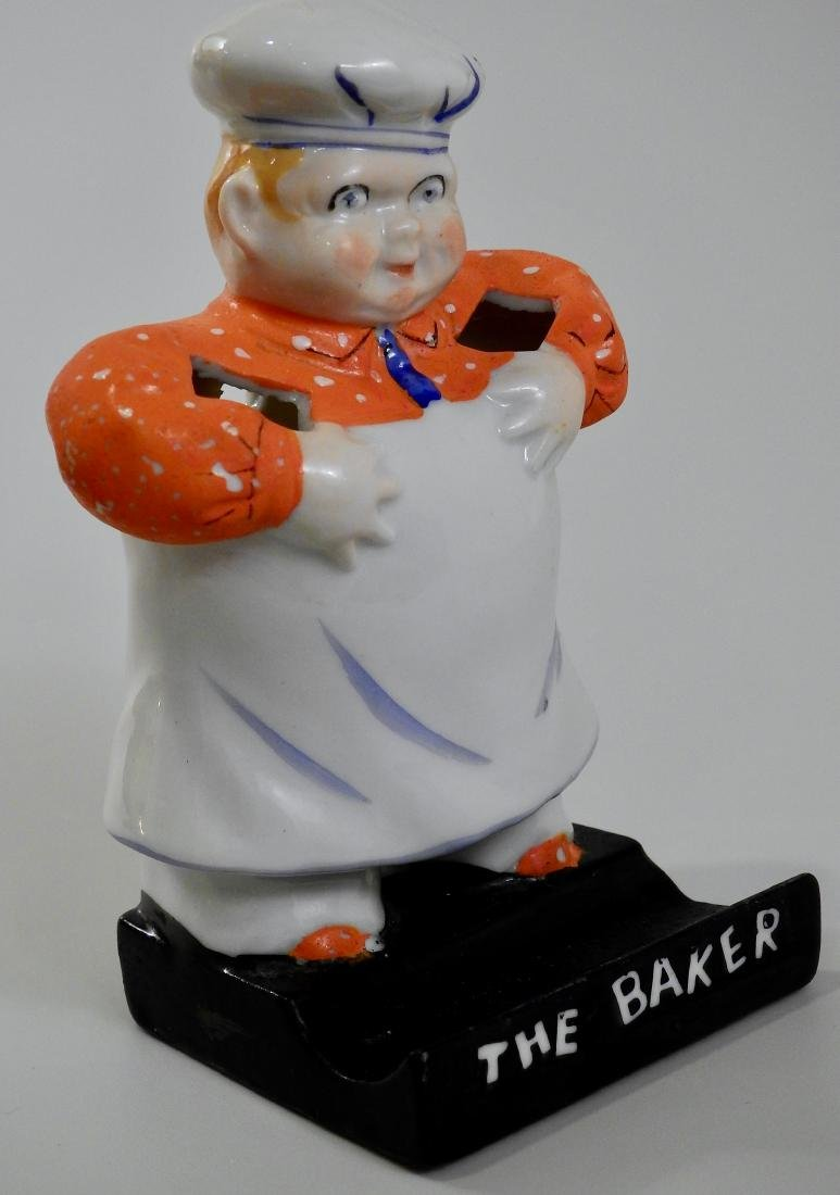 The Baker Figural Porcelain Spooner Cook Chef Kitchen - 4