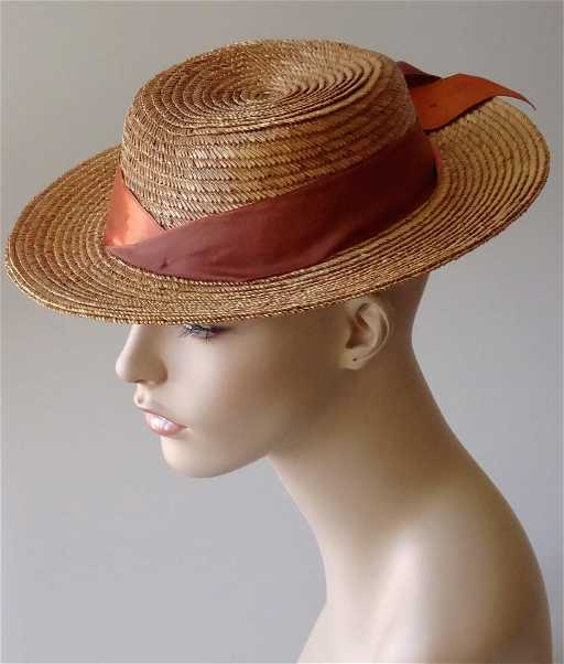 Vintage Early Stetson Fifth Avenue Straw Hat Women s 80d1baf7d
