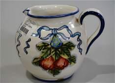 Hand Painted Italian Ceramic Pitcher