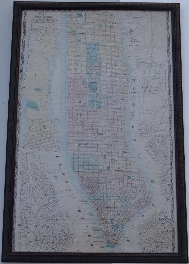 Antique Map of New York and Vicinity by M. Dripps
