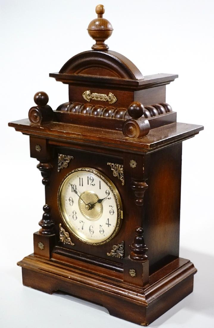 Musical Shelf Clock Music Box Electric Movement - 2