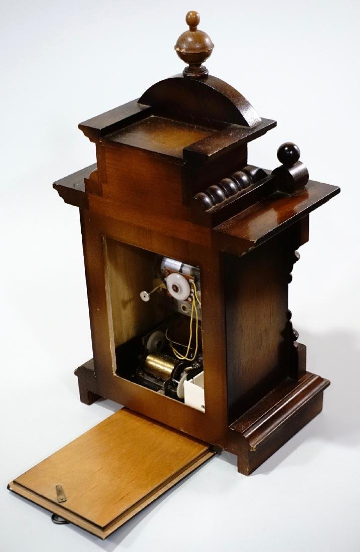 Musical Shelf Clock Music Box Electric Movement - 5