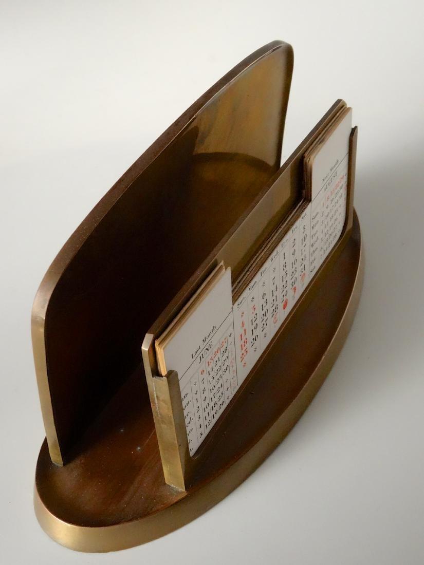 Large Inkwell Letter Rack Perpetual Calendar Desktop - 5