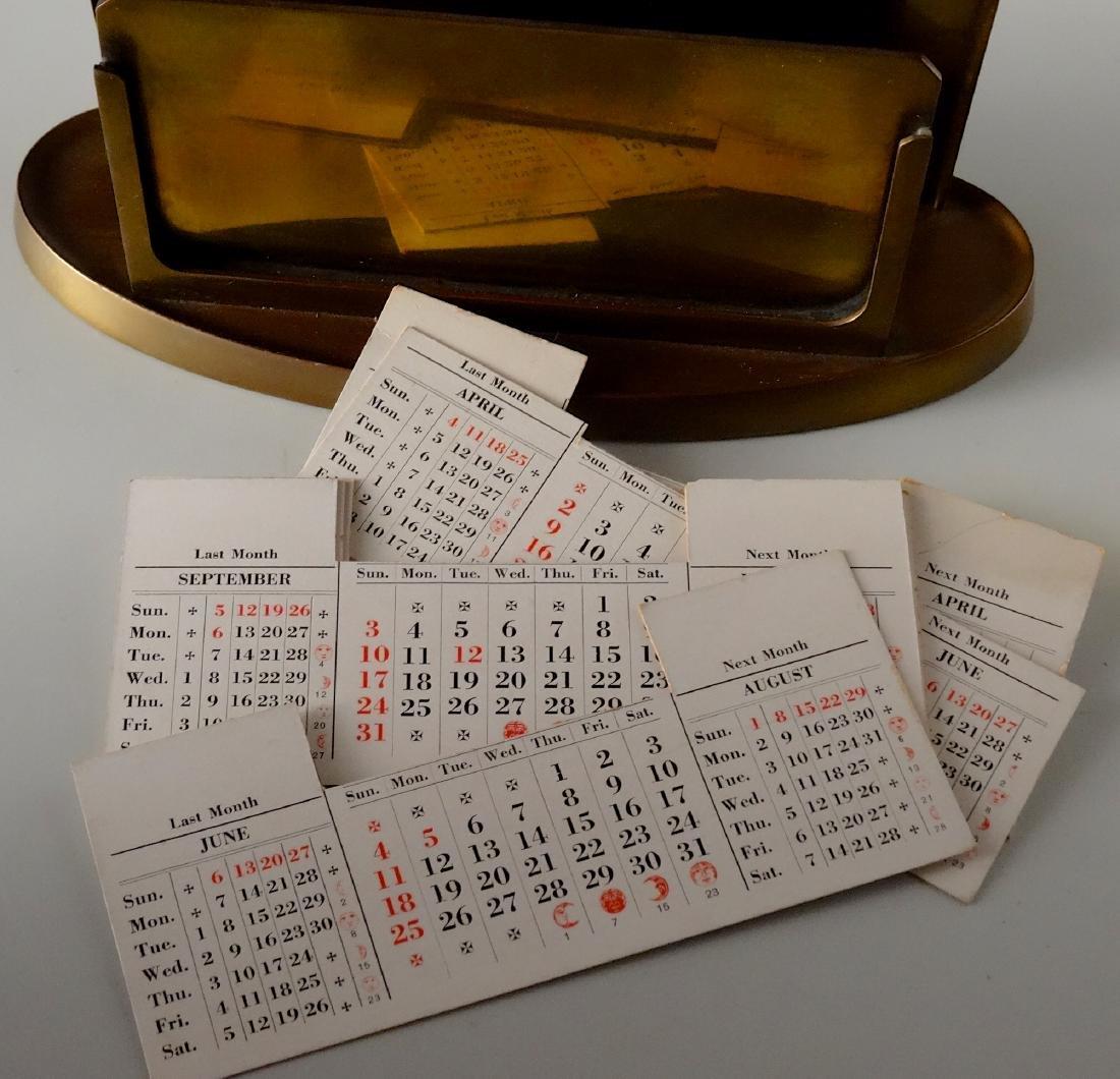 Large Inkwell Letter Rack Perpetual Calendar Desktop - 7