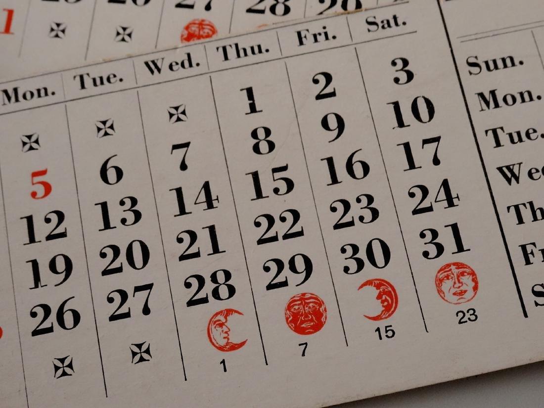 Large Inkwell Letter Rack Perpetual Calendar Desktop - 8