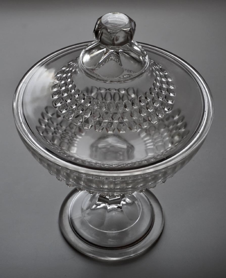 Vintage Pressed Glass Candy Container Lidded Compote - 2