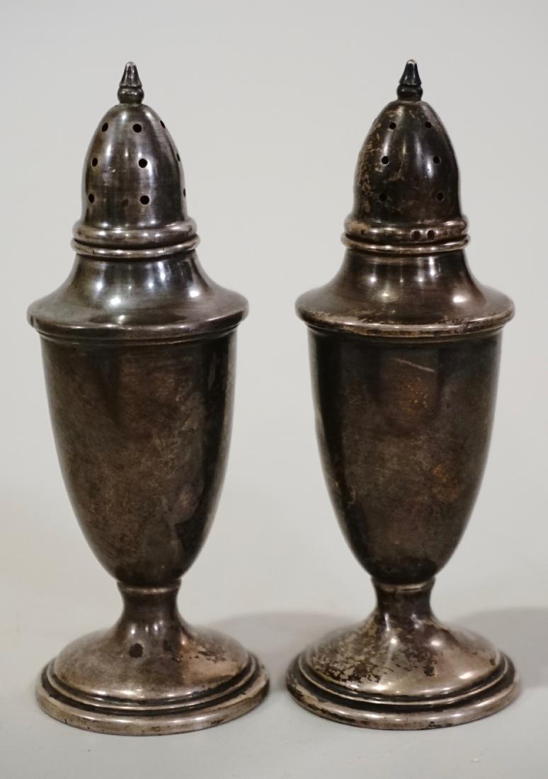 Sterling Silver Salt Pepper Shakers Set of 2