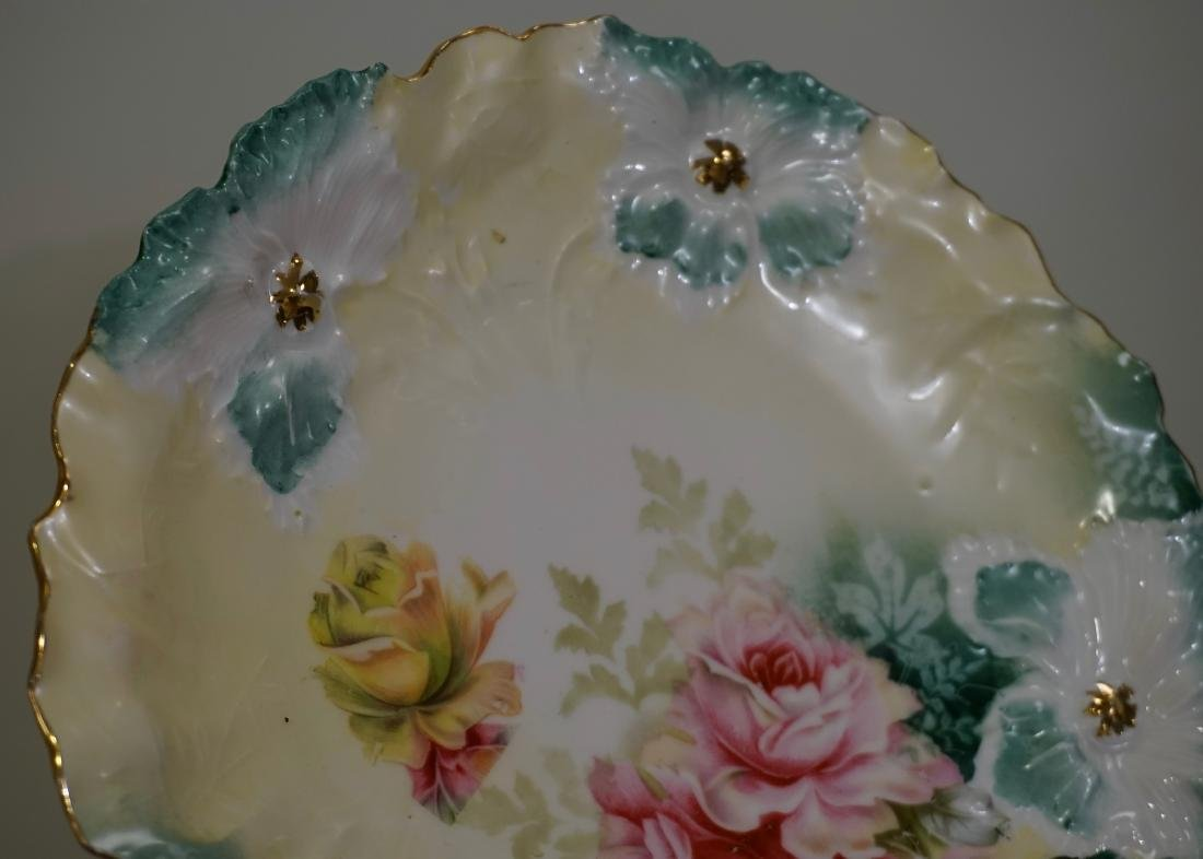 RS Prussia Carnation Mold Porcelain Plate - 2