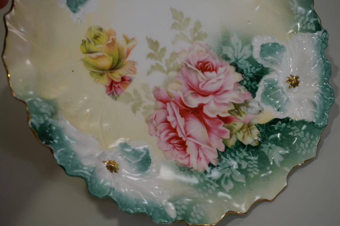 RS Prussia Carnation Mold Porcelain Plate - 3
