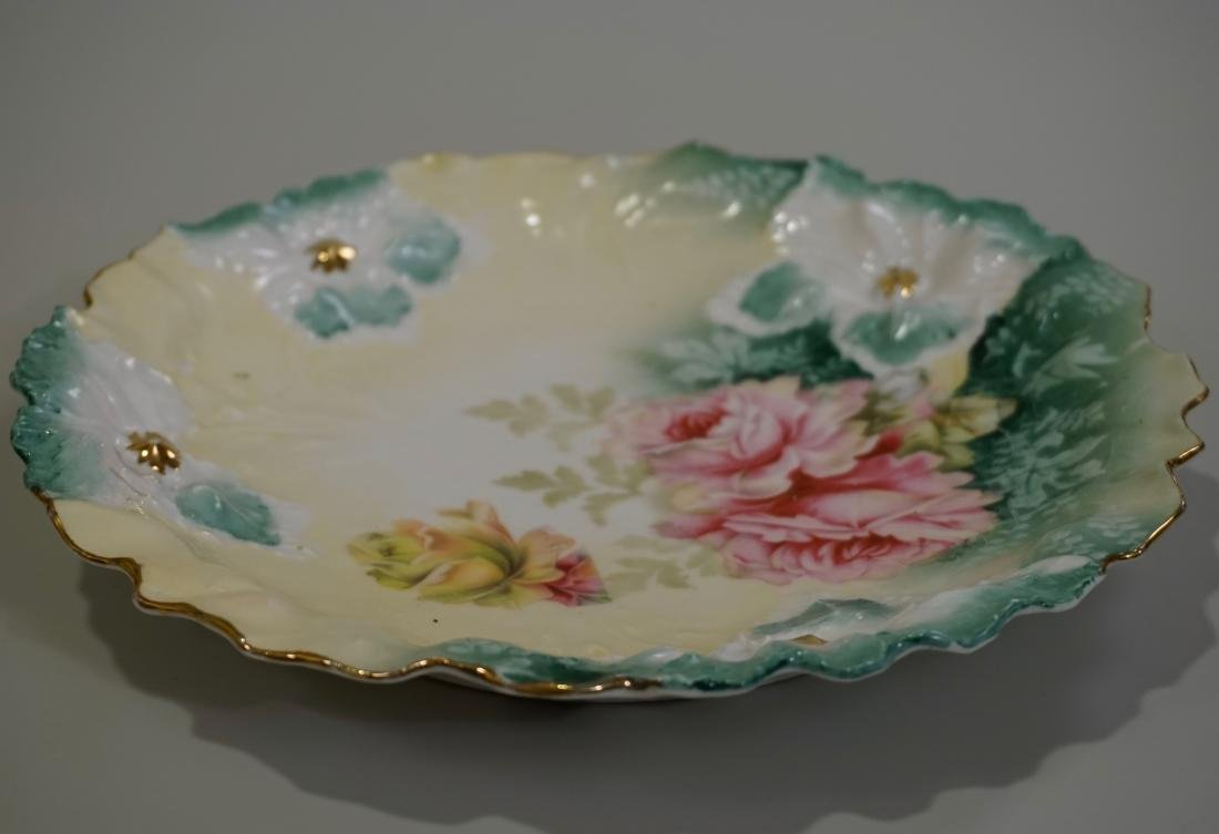 RS Prussia Carnation Mold Porcelain Plate - 4