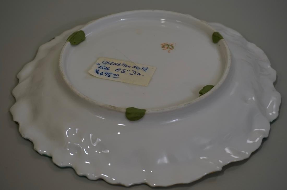 RS Prussia Carnation Mold Porcelain Plate - 5