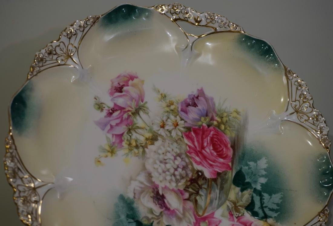 Antique RS Prussia Cake Platter 82 Mold - 3