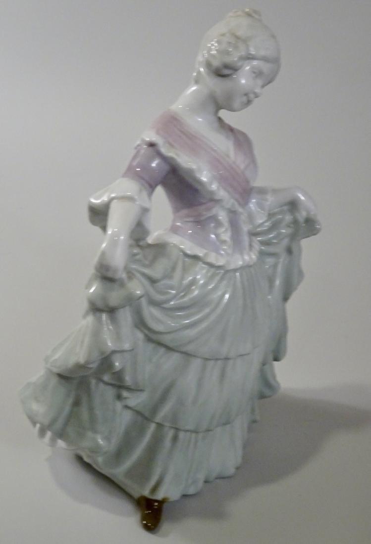 Gebrueder Heubach Girl Figurine Large German Porcelain - 4