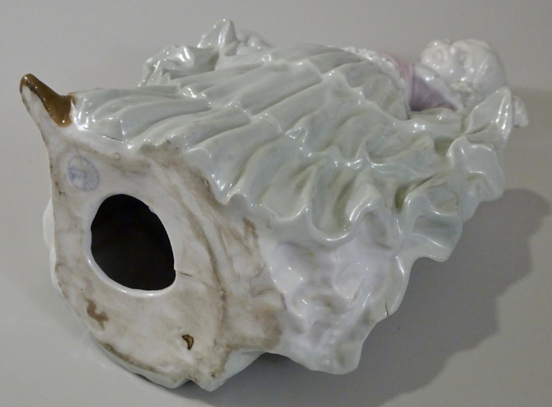 Gebrueder Heubach Girl Figurine Large German Porcelain - 6