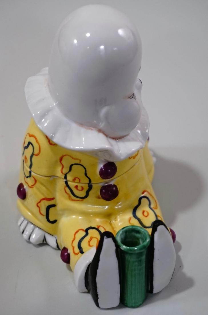 Vintage Art Deco Porcelain Clown Inkwell Pen Stand W. - 7