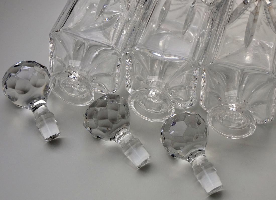 Lot of 3 Whiskey Crystal Decanters - 4
