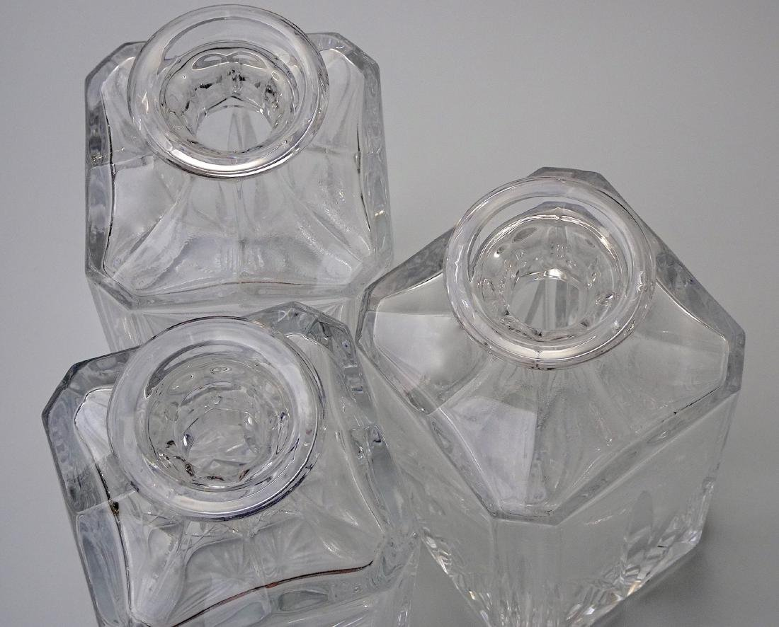 Lot of 3 Whiskey Crystal Decanters - 6
