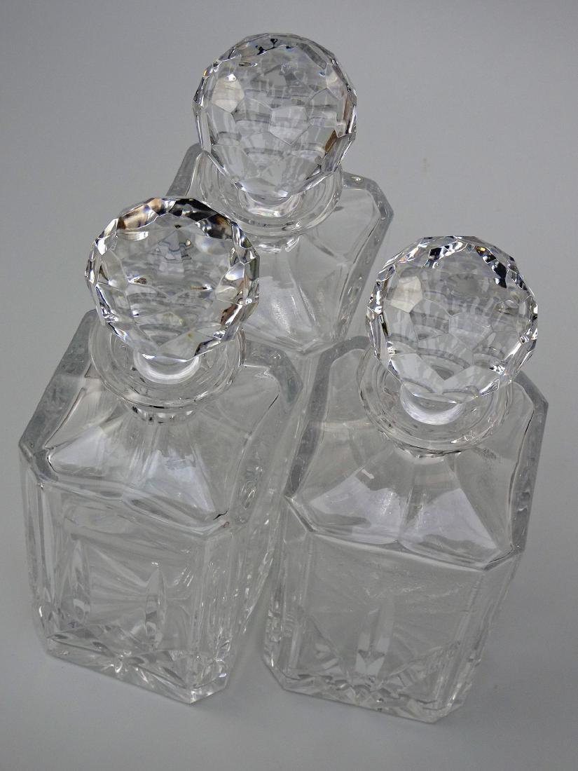 Lot of 3 Whiskey Crystal Decanters - 8