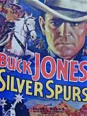 Vintage 1936 Western Movie Poster Buck Jones Silver