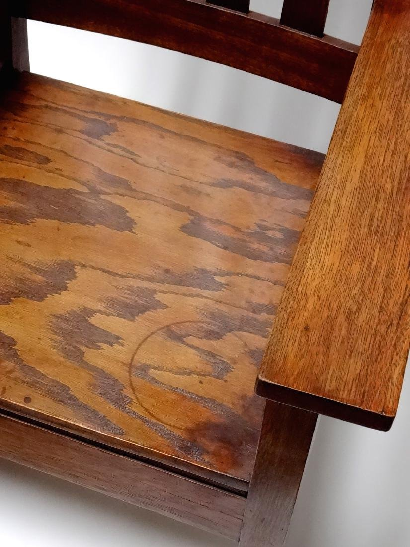Arts and Crafts Oak Stickley Style Mission Arm Chair - 4