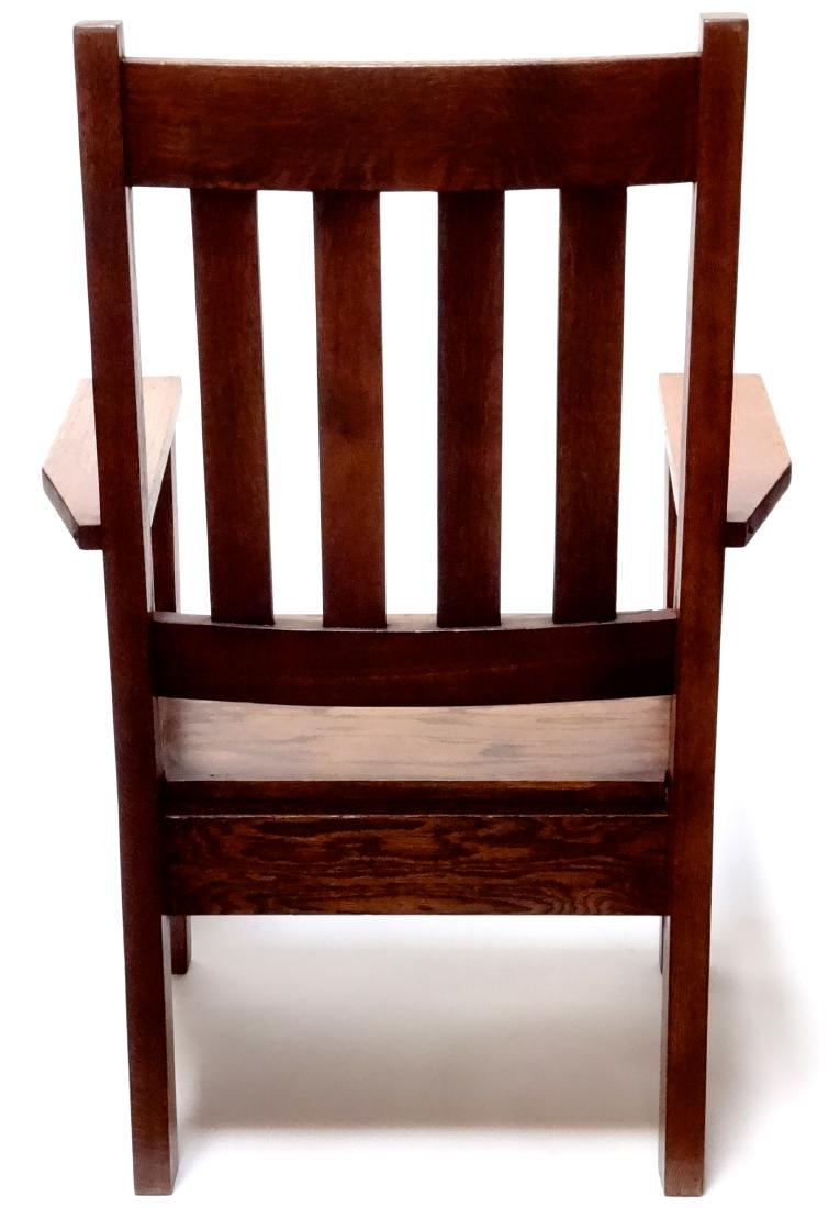 Arts and Crafts Oak Stickley Style Mission Arm Chair - 7
