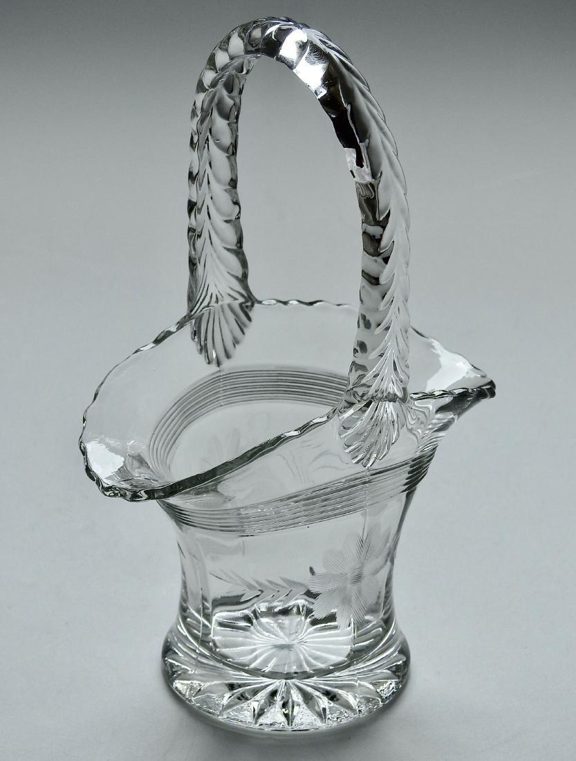 Vintage EAPG Brides Basket Vase