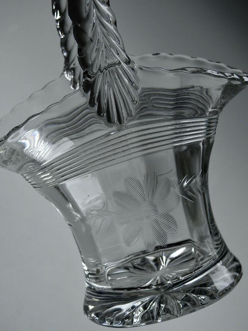 Vintage EAPG Brides Basket Vase - 4