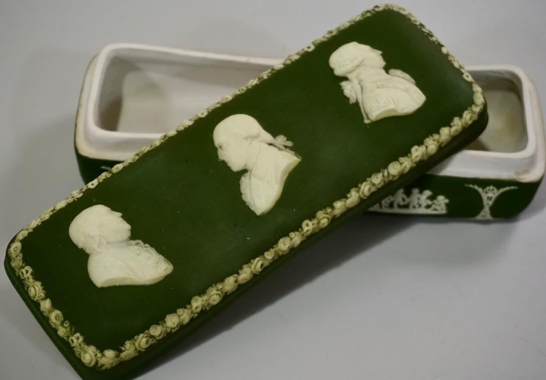 Antique Wedgwood Olive Green Dip Jasperware President