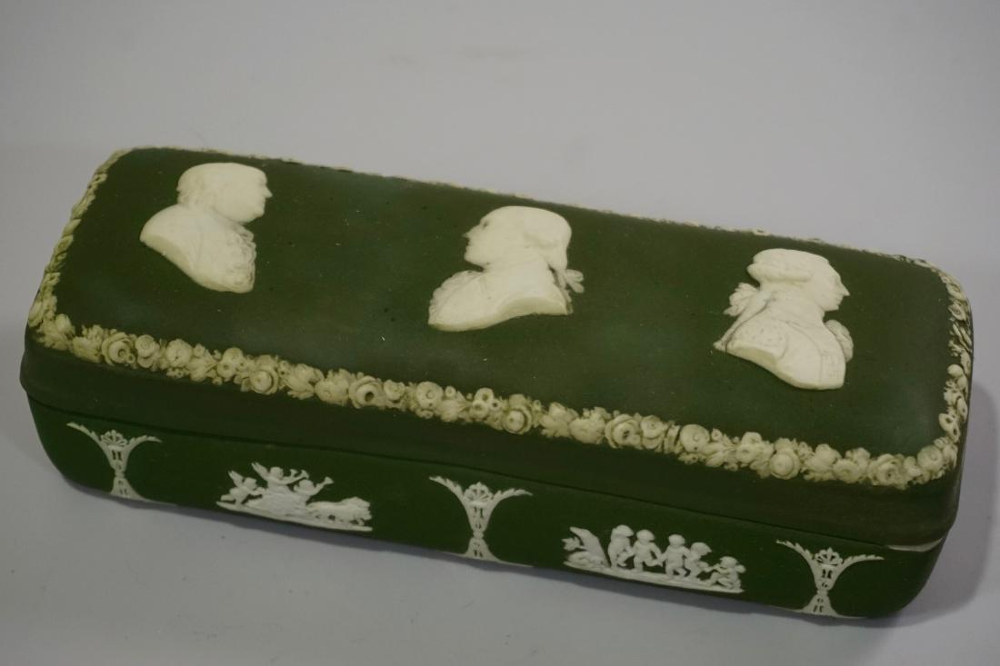 Antique Wedgwood Olive Green Dip Jasperware President - 2