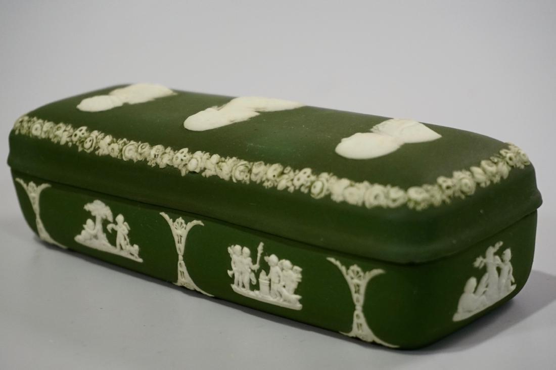 Antique Wedgwood Olive Green Dip Jasperware President - 3