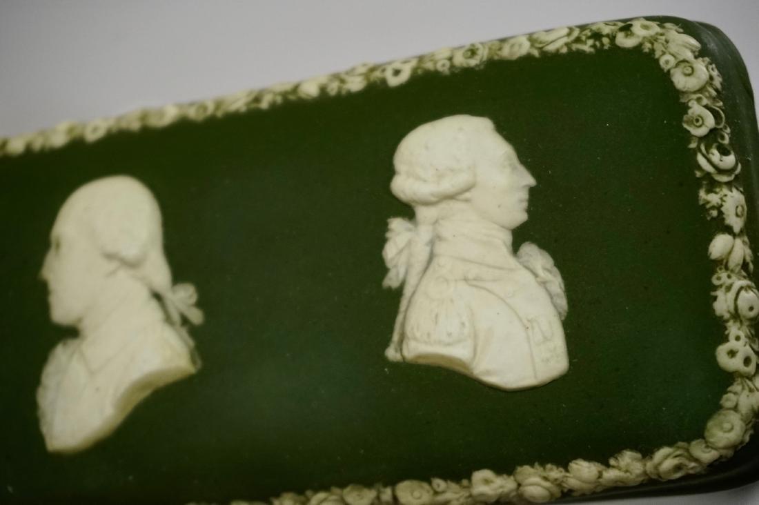 Antique Wedgwood Olive Green Dip Jasperware President - 4