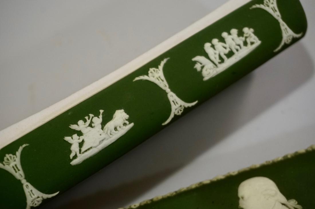 Antique Wedgwood Olive Green Dip Jasperware President - 6