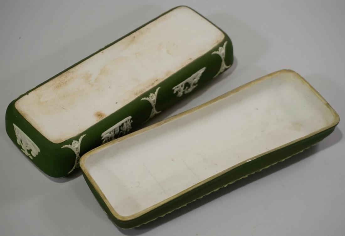 Antique Wedgwood Olive Green Dip Jasperware President - 7