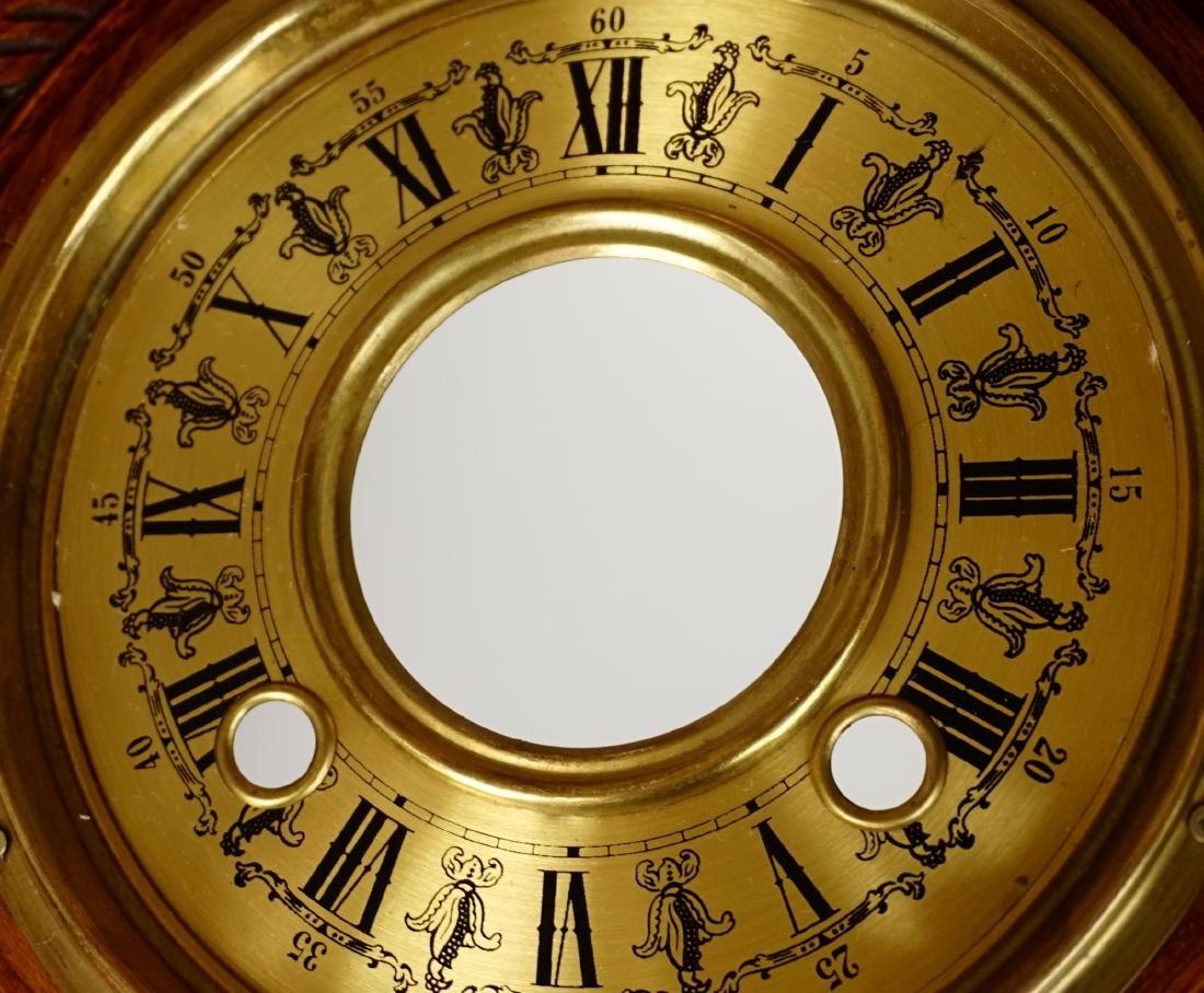 Carved Case Regulator Wall Clock Brass Pendulum - 10