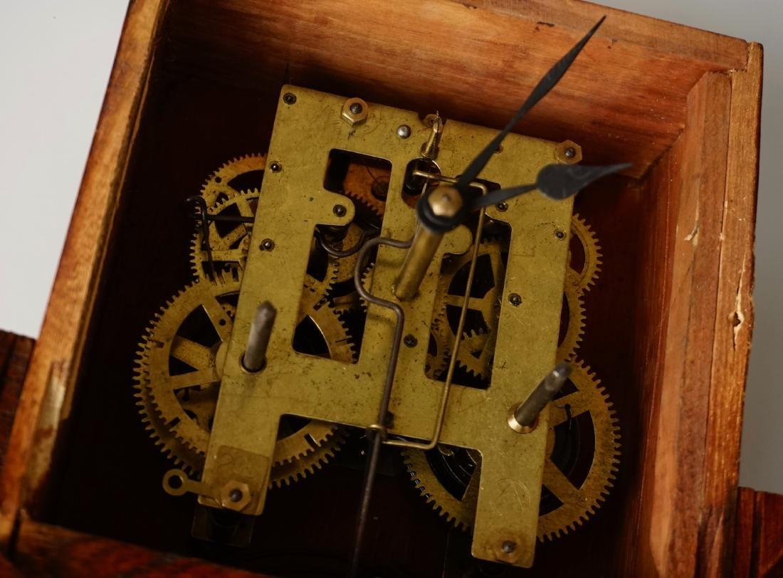 Carved Case Regulator Wall Clock Brass Pendulum - 9