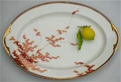 Maple Leaf Japanese Porcelain Serving Platter Oval Tray