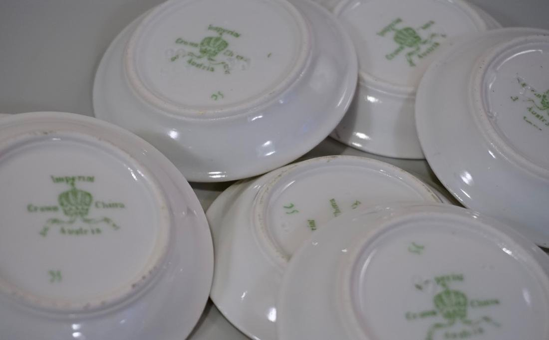 Miniature Dollhouse Plate Butter Pat Imperial Crown - 5