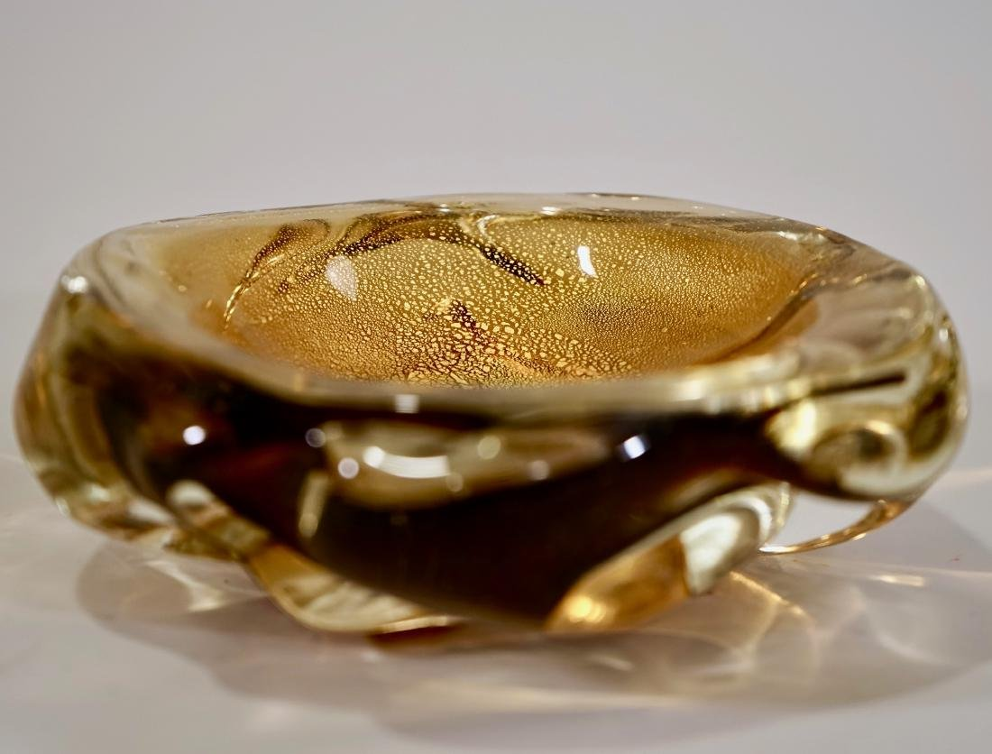 Archimede Seguso Yellow Gold Speck Murano Glass Small - 2