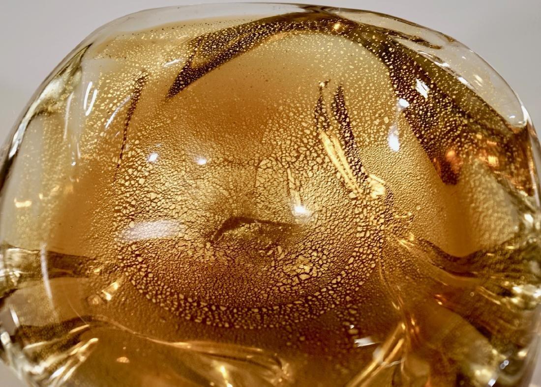 Archimede Seguso Yellow Gold Speck Murano Glass Small - 4