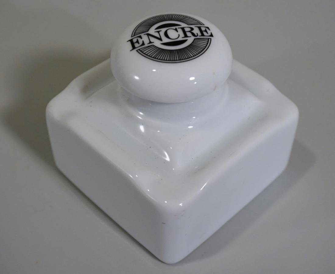 French White Porcelain Inkwell - 2