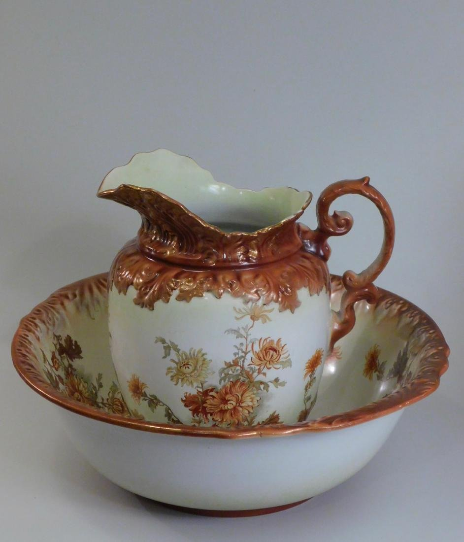 Winton Pottery Wash Pitcher Basin Staffordshire