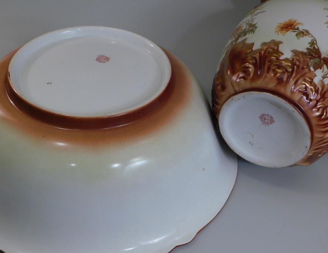 Winton Pottery Wash Pitcher Basin Staffordshire - 2