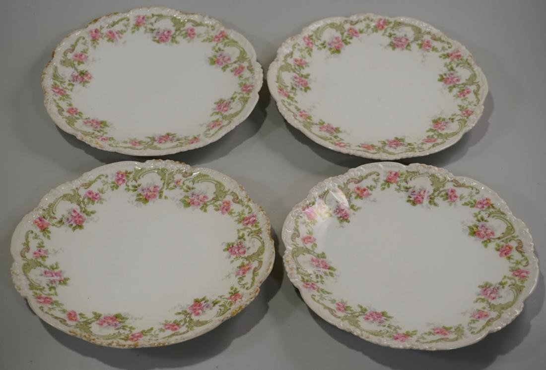 J Pouyat Porcelain Plates Lot of 4