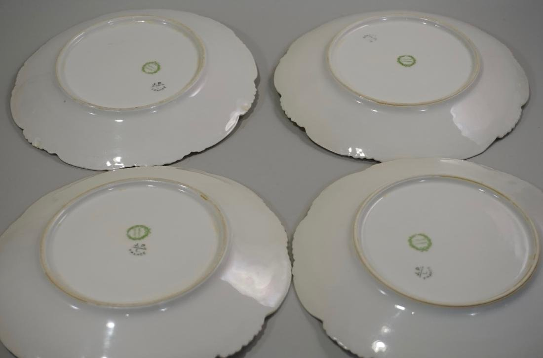 J Pouyat Porcelain Plates Lot of 4 - 3